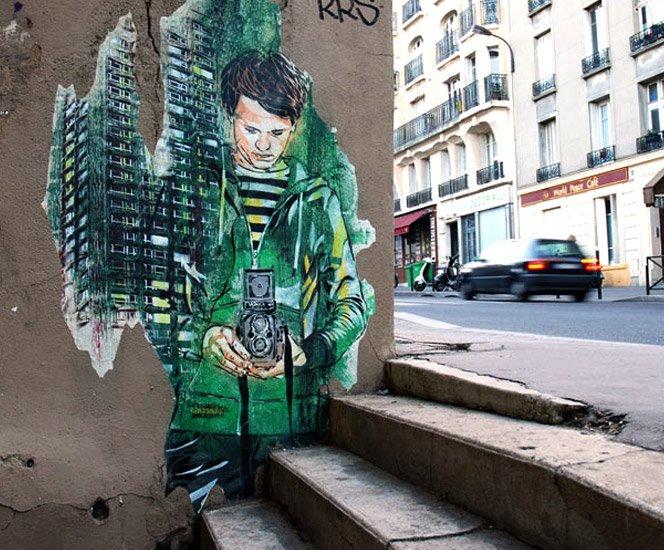 Streetart Papparazzi