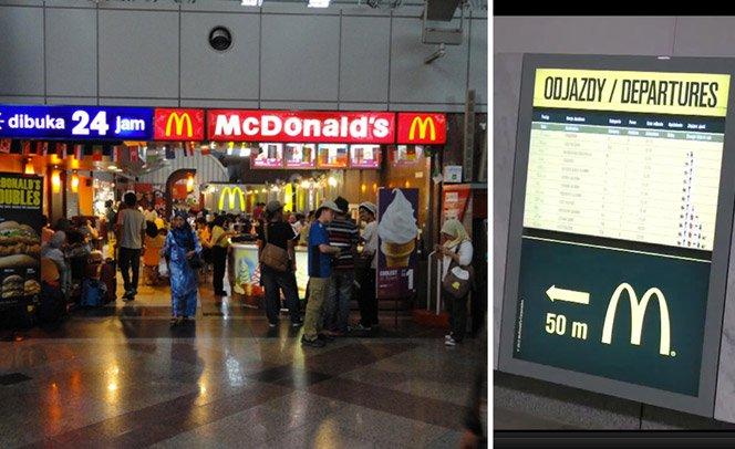 McDonald's diz quantos hambúrgueres dá tempo de comer antes do próximo trem