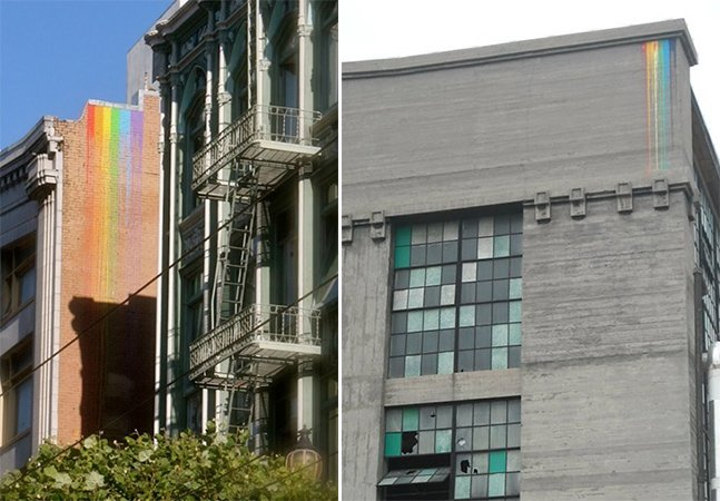 O artista de rua que espalha arco-íris e leva vida para a cidades
