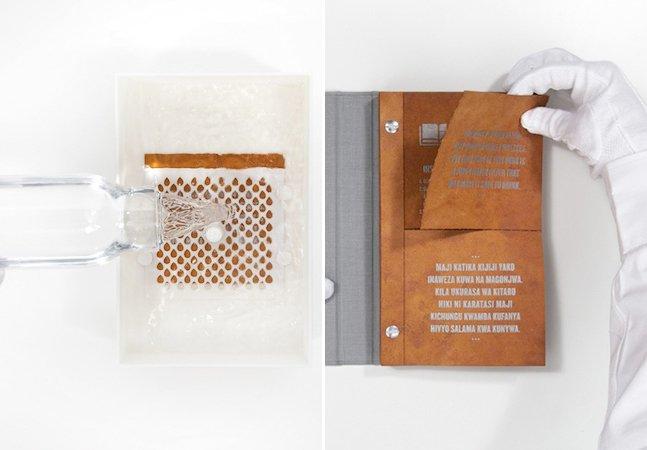 ONG cria livro capaz de purificar centenas de litros de água
