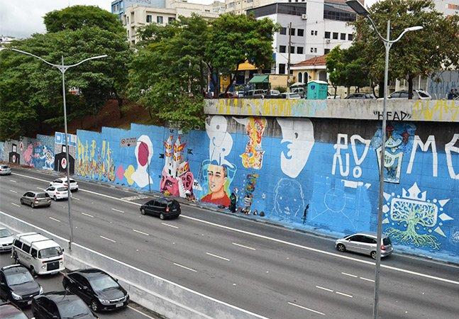 O mural da 23 de Maio que será a maior galeria de graffiti a céu aberto na América Latina