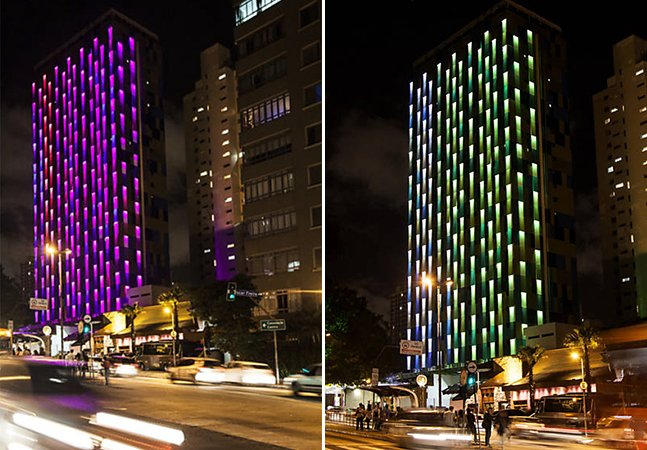 O hotel em São Paulo que muda de cor conforme a qualidade do ar