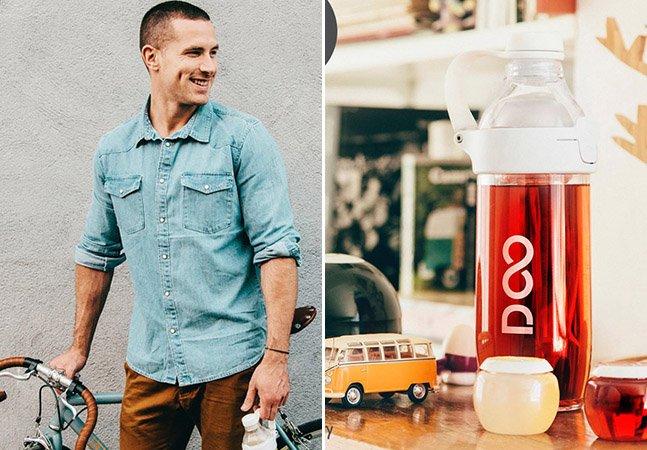 Conheça a garrafa inovadora que promete turbinar sua água e te dar um boost de energia