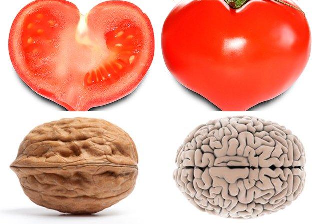 10 alimentos com um formato parecido com os órgãos que beneficiam