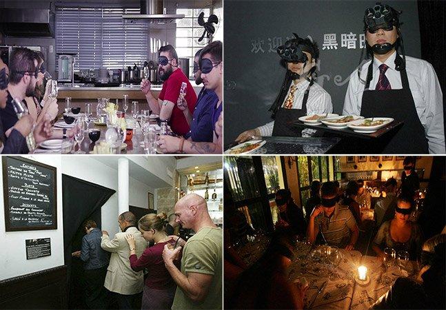5 restaurantes pelo mundo para você vivenciar um jantar às cegas