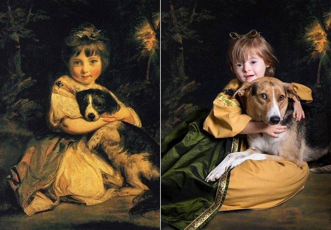 Fotógrafa convida crianças com Síndrome de Down para recriar obras de arte famosas