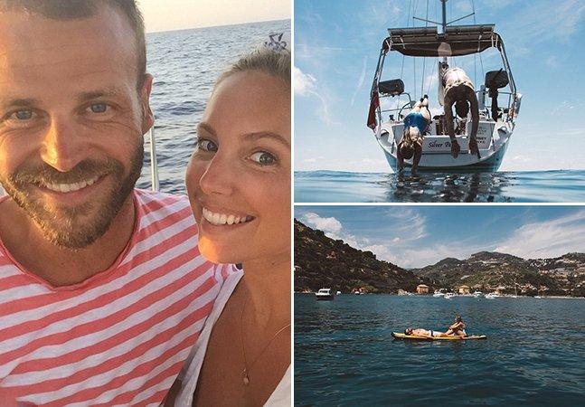 O casal que deixou a vida estável para viver em um barco e navegar pelo mundo