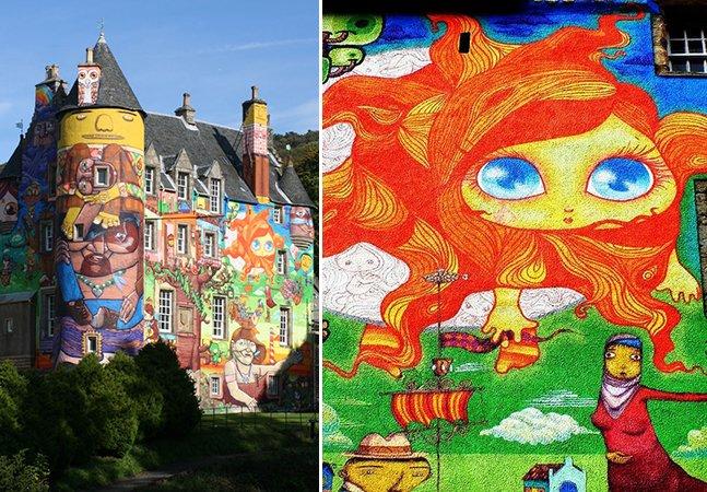Conheça o castelo do século XIII coberto por grafites de artistas brasileiros