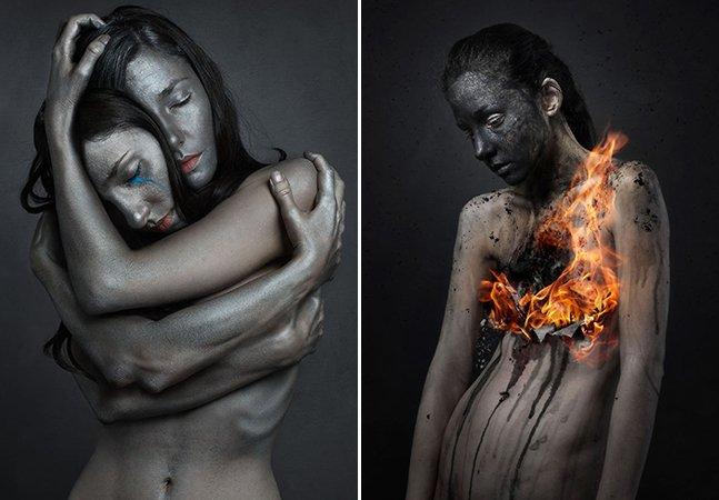 Fotógrafa cria série surreal para mostrar como é conviver com a depressão