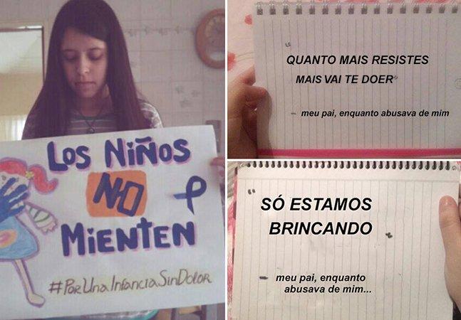 'Papai, te odeio': menina de 17 anos cria página pra contar os abusos cometidos pelo pai na infância