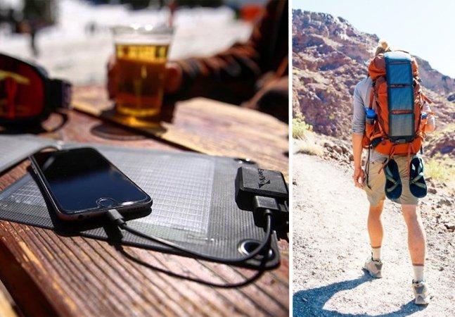 Carregador solar de smartphone não te deixa na mão e ainda protege o meio ambiente