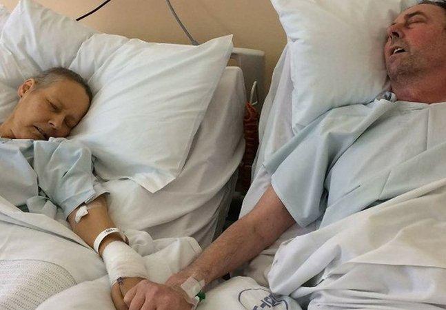 Tocante foto de casal que morreu de câncer com dias de diferença arrecada mais de R$ 800 mil em doações pra filhos