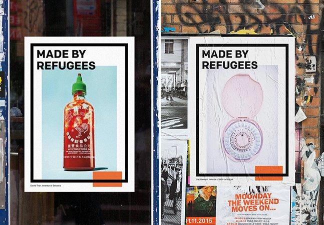 Campanha lembra produtos e invenções que existem hoje graças aos refugiados