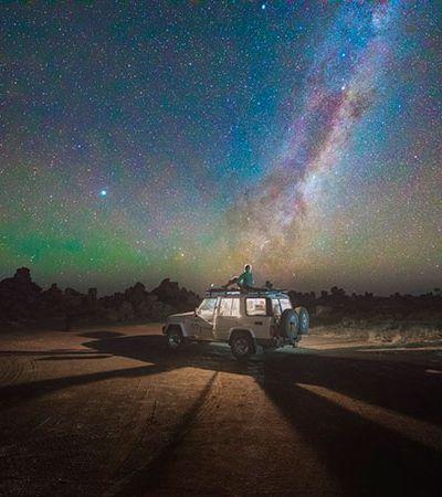 Fotógrafo russo clica o cosmos sobre o deserto da Namíbia