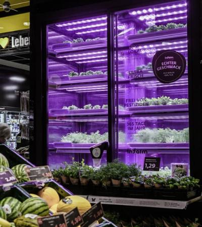 Supermercados estão cultivando alimentos 'indoor' graças a estas hortas modulares