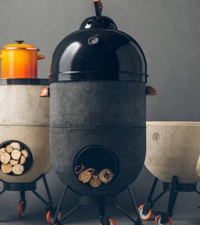 O maravilhoso fogão que é também forno de pizza, churrasqueira e fogueira
