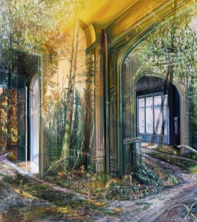 Artista retrata a passagem do tempo por meio de camadas de pintura