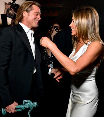 Encontro de Jennifer Aniston e Brad Pitt é a melhor notícia do SAG Awards