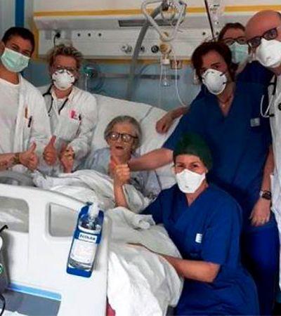 Italiana de 95 anos é a mais velha do mundo a vencer o coronavírus