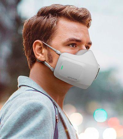 Coronavírus: nova máscara da LG tem purificador de ar e caixa higienizadora