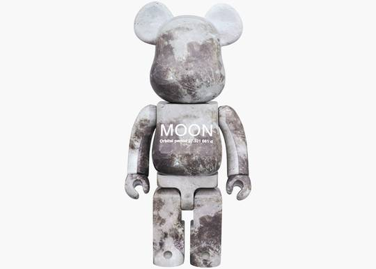 Bearbrick Moon 1000% Grey Hype Clothinga Limited Edition