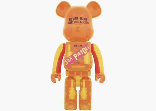 Bearbrick x Sex Pistols Clear Version 1000% Orange Hype Clothinga Limited Edition
