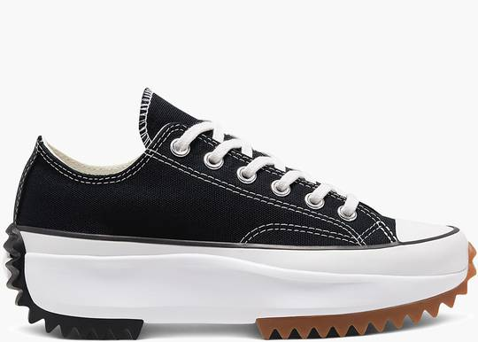 Converse Run Star Hike Ox Black White Gum hype clothinga