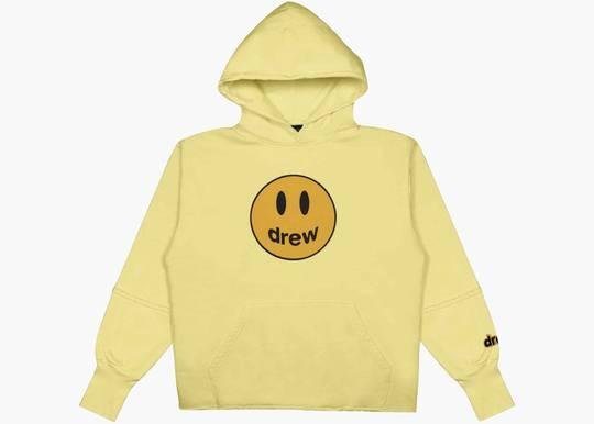 Drew House Deconstructed Mascot Hoodie light yellow