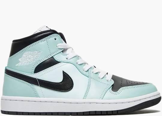 Jordan 1 Mid Aqua Blue Tint (W)