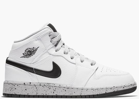 Nike Air Jordan 1 Mid White Cement (GS)  554725-115 Hype Clothinga Limited Edition