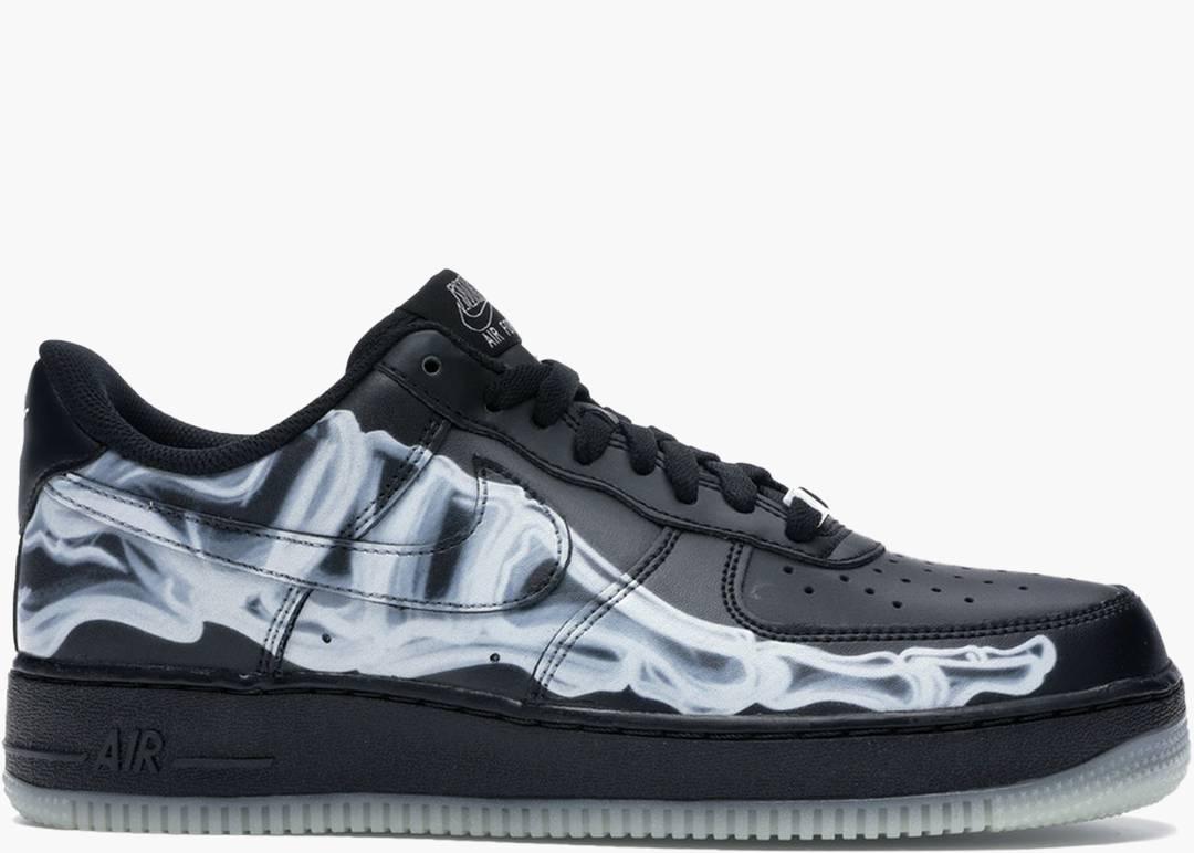 Nike Air Force 1 Low Skeleton Black   Hype Clothinga