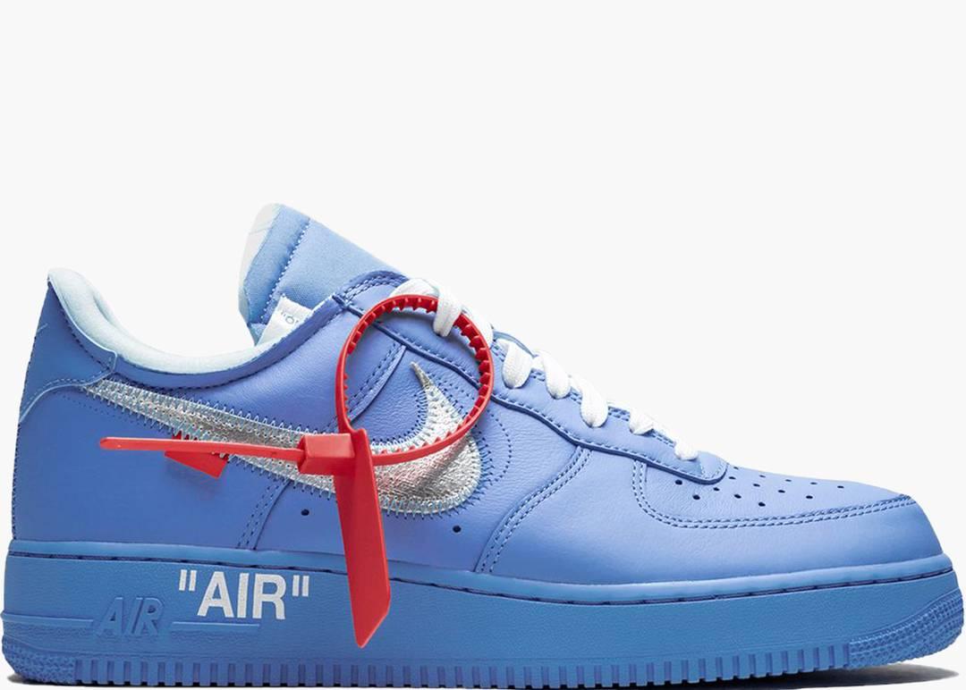 air force 1 swoosh azzurre