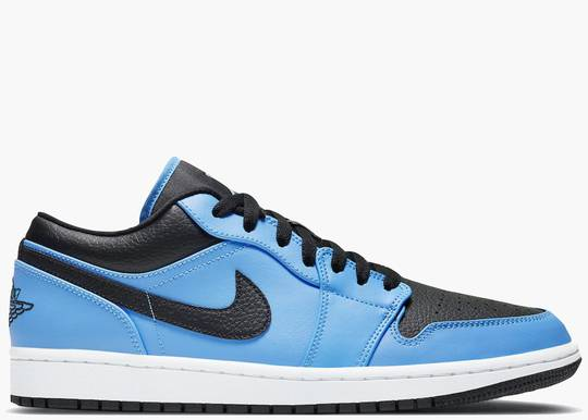 Nike AirJordan 1 Low Laser Blue Black 553558-403 Hype Clothinga Limited Edition