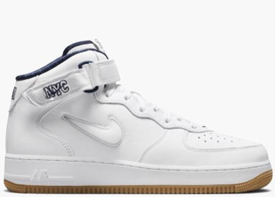 Nike Air Force 1 Mid QS Jewel NYC White Midnight Navy DH5622-100 Hype Clothinga LImited Edition