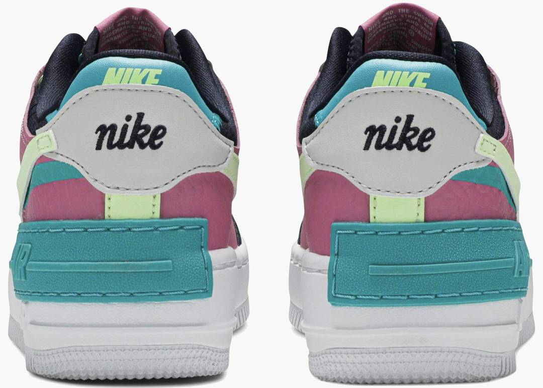 Nike Air Force 1 Shadow Barely Volt Oracle Aqua (w)