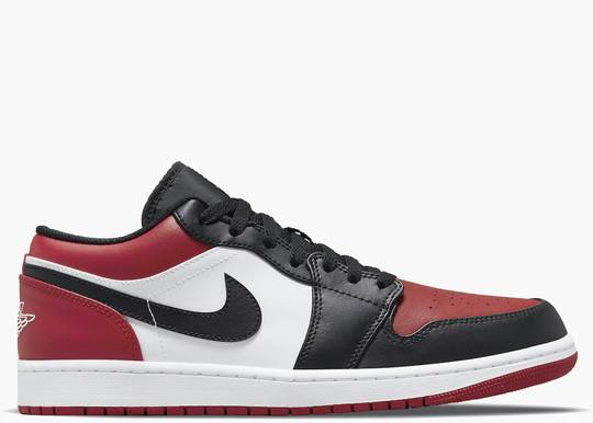 Nike Air Jordan 1 Low Bred Toe (GS) 553560-612 Hype Clothinga Limited Edition