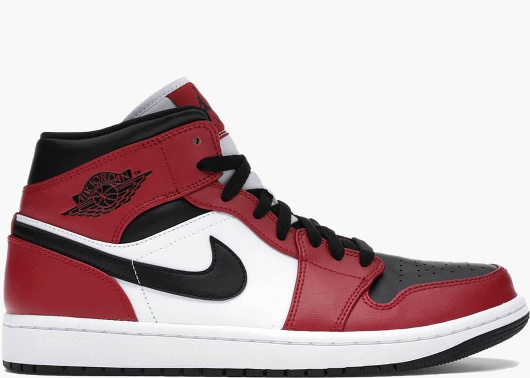 Nike Air Jordan 1 Mid Chicago Black Toe