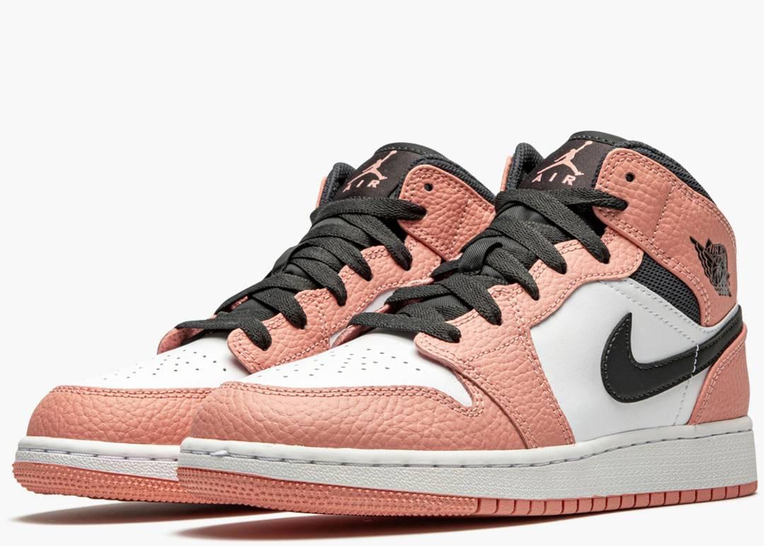 Nike Air Jordan 1 Mid Gs Pink Quartz
