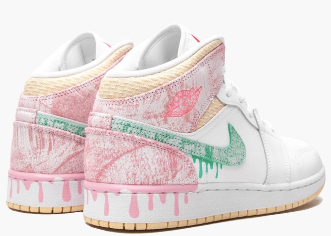 Nike Air Jordan 1 Mid Paint Drip (GS) | Hype Clothinga