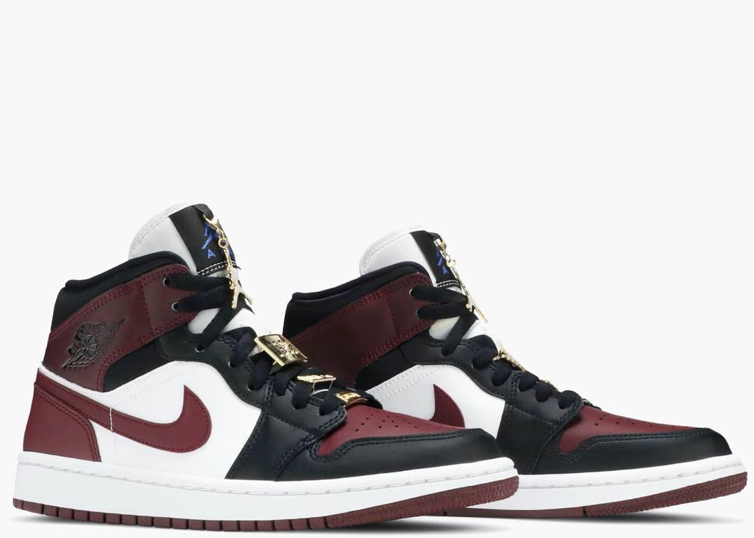 Nike Air Jordan 1 Mid Se Black Dark Beetroot (w)