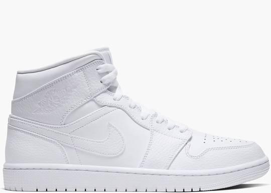 Nike Air Jordan 1 Mid Triple White 2.0 (2020)