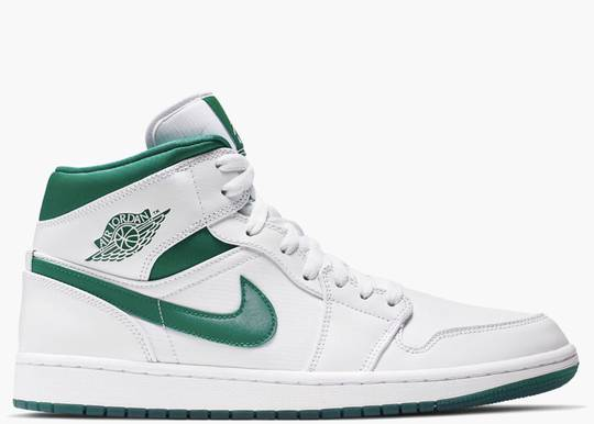 Nike Air Jordan 1 Mid White Mystic Green