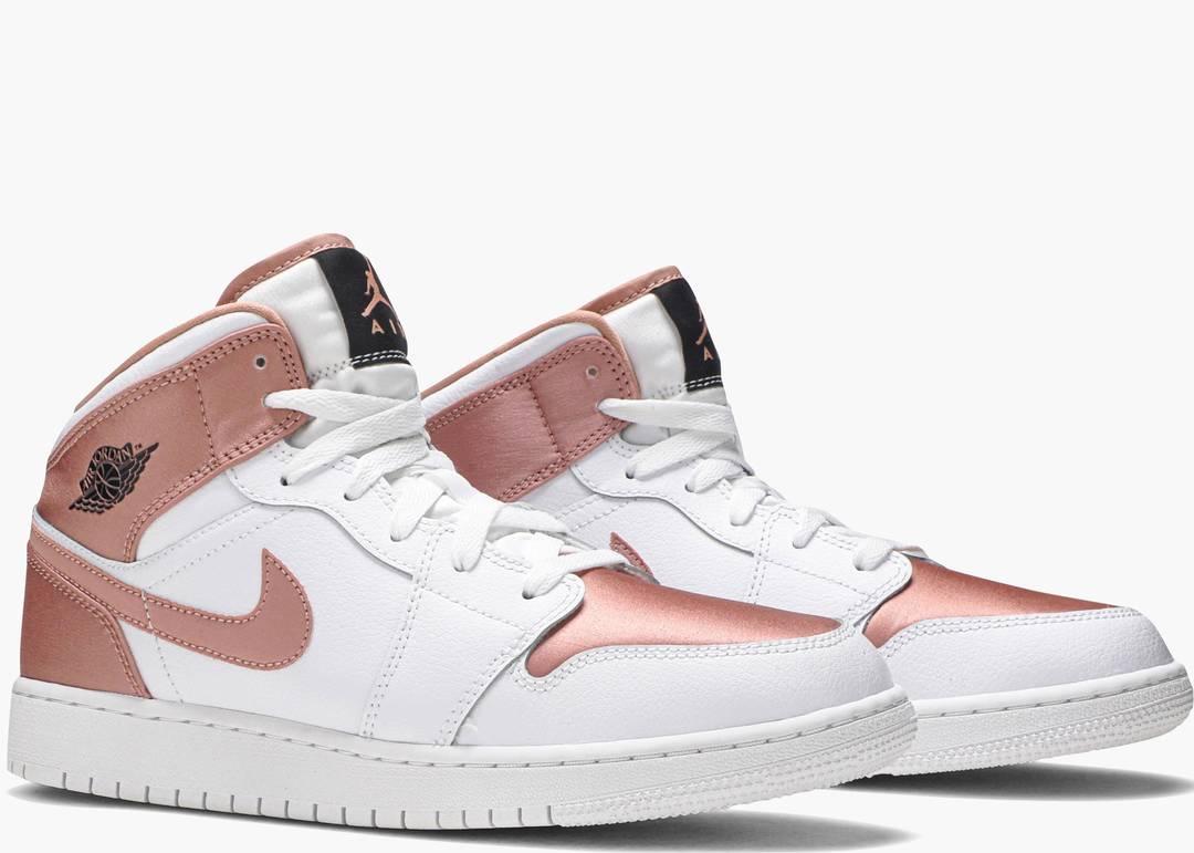 Nike Air Jordan 1 Mid White Rose Gold (gs)