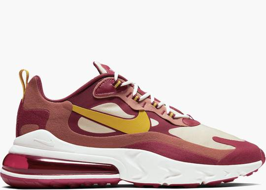 Nike Air Max 270 React Noble Red Team Gold