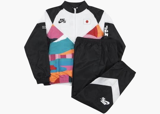 Nike SB x Parra Japan Federation Kit Skate Tracksuit Black