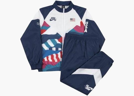Nike SB x Parra USA Federation Kit Skate Tracksuit Blue