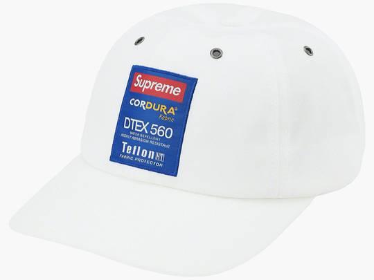 Supreme Cordura Teflon Label 6-Panel White Hype Clothinga