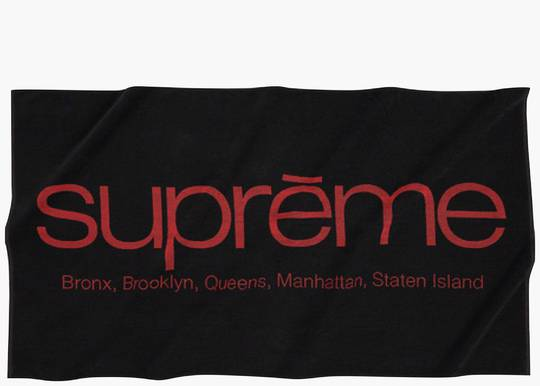 Supreme Five Boroughs Towel Black Hype Clothinga Limited Edition
