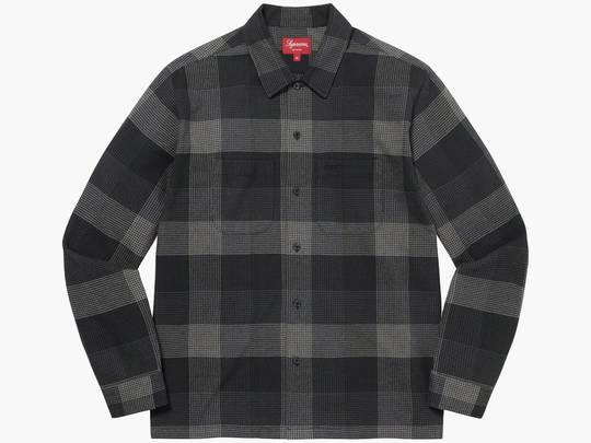Supreme Plaid Flannel Shirt Black Hype Clothinga