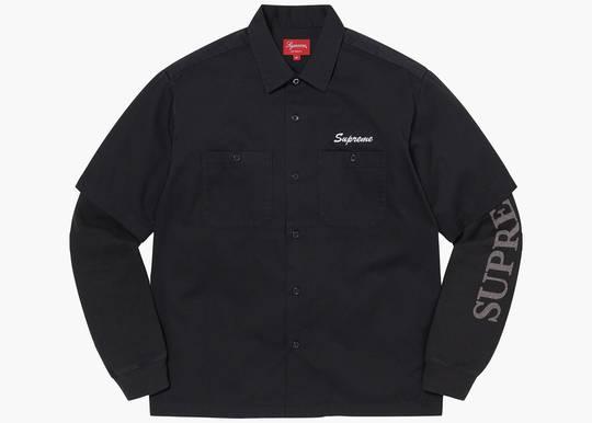 Supreme Thermal Work Shirt Black Hype Clothinga Limited Edition